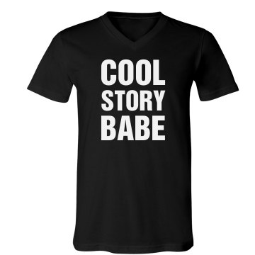 Boy Cool Story Babe Unisex Canvas V-Neck Jersey Tee