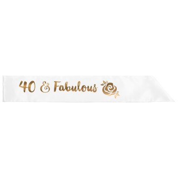 40 & Fab Sash Adult Satin Party Sash