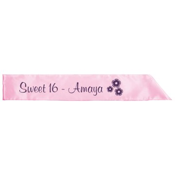 Sweet 16 Sash Adult Satin Party Sash