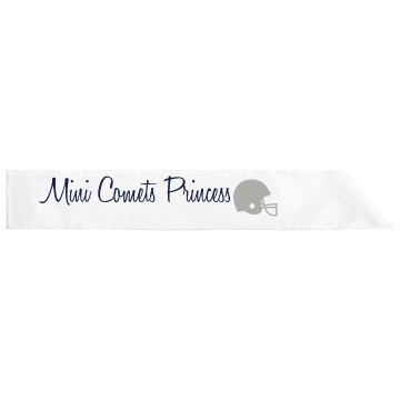 Mini Comets Princess Adult Satin Party Sash