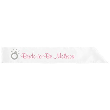 Bride-To-Be Sash Adult Satin Party Sash