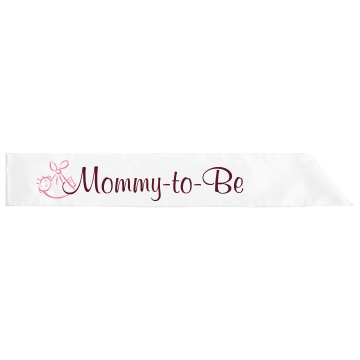 Pink Mommy-To-Be Adult Satin Party Sash
