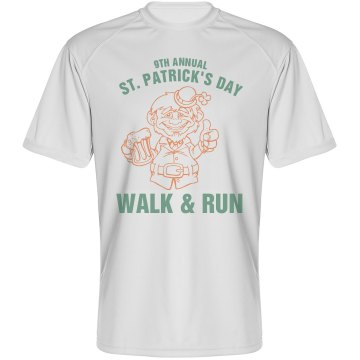 St. Pat Gold Race Tee Paragon Performance Tee