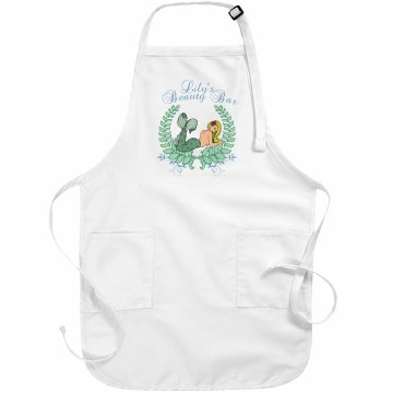 Beauty Bar Apron Basic White Apron