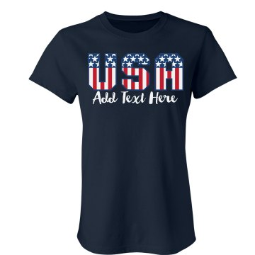 USA World Cup Soccer T Misses Relaxed Fit Gildan Ultra Cotton Tee