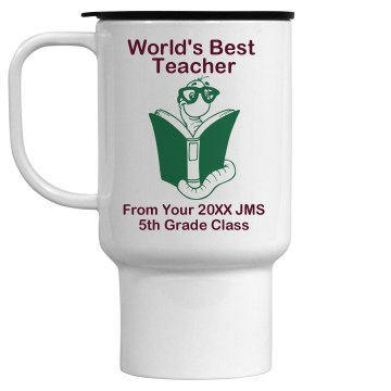 Best Teacher 15oz Travel Mug