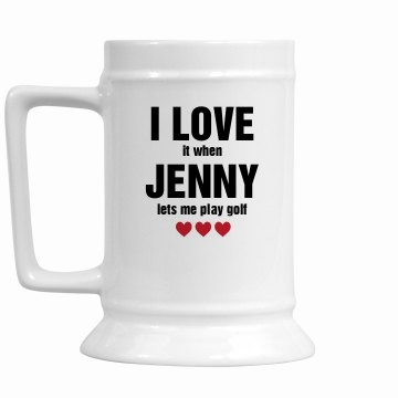 I Love It Mug 16oz Ceramic Stein