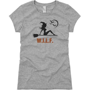 Halloween WILF Junior Fit Basic Bella Favorite Tee
