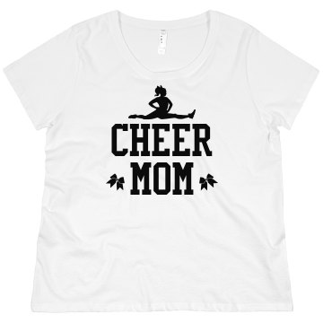 Cheer Mom Rhinestones Misses Relaxed Fit Gildan Heavy Cotton Tee