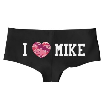 I Camo Heart Mike Bella Hotshort