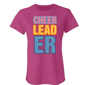 Big Bright Cheerleader Junior Fit Bella Sheer Longer Length Rib Tee
