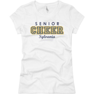 Senior Cheer Shirt Junior Fit Basic Bella Favorite Tee