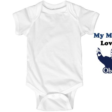 Mama Loves Obama Infant Rabbit Skins Lap Shoulder Creeper