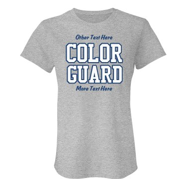 Color Guard School Colors Junior Fit American Apparel Fine Jersey Tee
