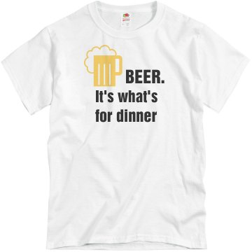 Beer.  Unisex Basic Gildan Heavy Cotton Crew Neck Tee