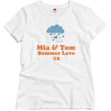 Summer Love Misses Relaxed Fit Basic Gildan Ultra Cotton Tee