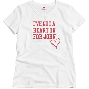I've Got A Heart On Misses Relaxed Fit Basic Gildan Ultra Cotton Tee