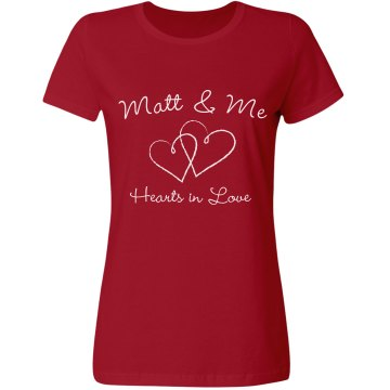 Hearts In Love Misses Relaxed Fit Gildan Ultra Cotton Tee