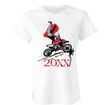 Motocross Junior Fit Bella Sheer Longer Length Rib Tee