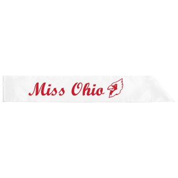 Miss Ohio Sash Adult Satin Party Sash