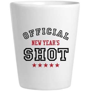 Official New Year's Shot Ceramic Shotglass