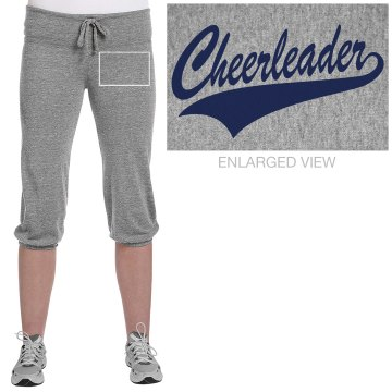 Cheerleader Capris Junior Fit Soffe Fleece Capri