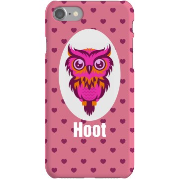 Custom Owl Lovers Phone Plastic iPhone 5 Case White