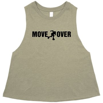 Move Over Derby Crop Misses American Apparel Neon Oversized Crop Tank