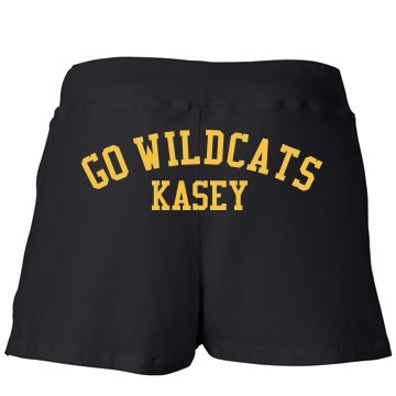 Wildcat Senior w/ Back Junior Fit Bella Fitness Shorts