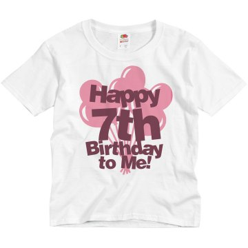 Happy 7th Birthday Youth Bella Girl Sheer 2-in-1 Baby Jersey Tee