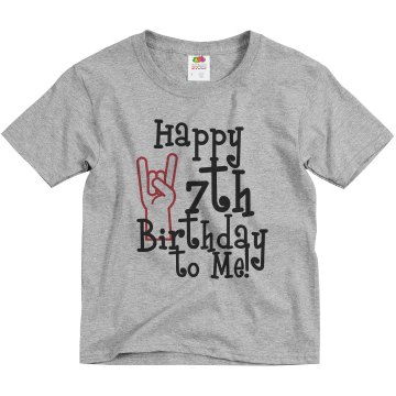 Happy 7th To Me Youth Bella Girl Sheer 2-in-1 Baby Jersey Tee
