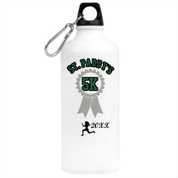 St. Patrick's Day Run Aluminum Water Bottle