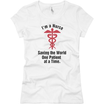 I Am a Nurse Junior Fit Basic Bella Favorite Tee