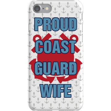 Coast Guard Wife iPhone Plastic iPhone 5 Case White