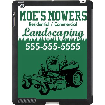 Landscaping Mower Case Black iPad Smart Cover
