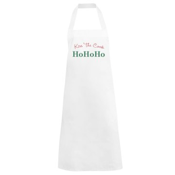 Kiss The Christmas Cook Basic White Apron