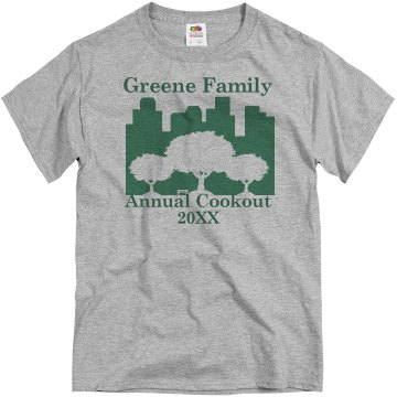 Annual Family Cookout Unisex Basic Gildan Heavy Cotton Crew Neck Tee