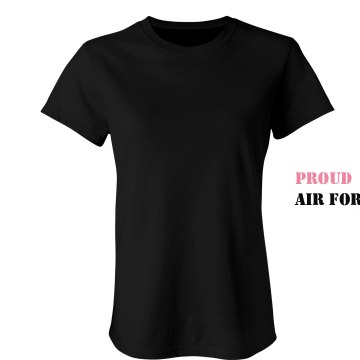 Proud Air Force Wife Junior Fit Bella Crewneck Jersey Tee
