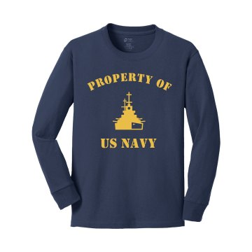 Navy Youth Tee Youth Gildan Ultra Cotton Long Sleeve Tee