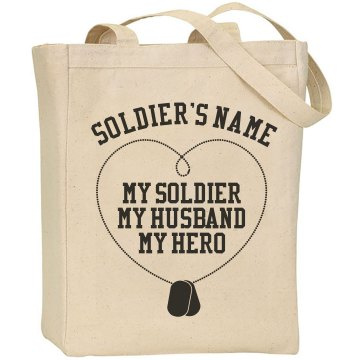 Custom Soldier Military Liberty Bags Canvas Tote