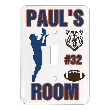 Paul's Football Room Single Light Switch Cover