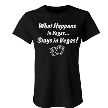 What Happens In Vegas... Junior Fit Bella Crewneck Jersey Tee