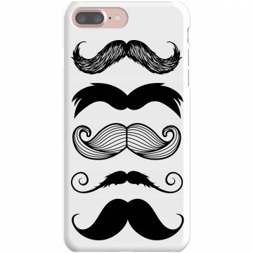 Mustache iPhone Cover Rubber iPhone 4 &amp; 4S Case White