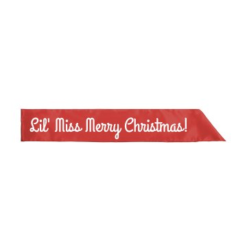 Lil' Miss Merry Christmas Youth Satin Sash