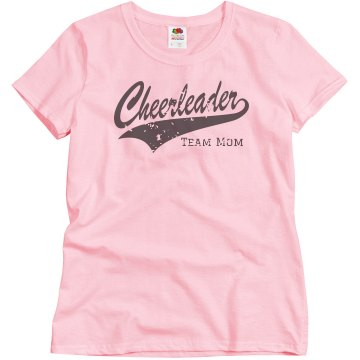 Cheerleader Script Mom Misses Relaxed Fit Basic Gildan Heavy Cotton Tee