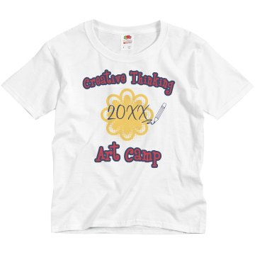 Art Camp Tee Youth Bella Girl 1x1 Rib Cap Sleeve Tee