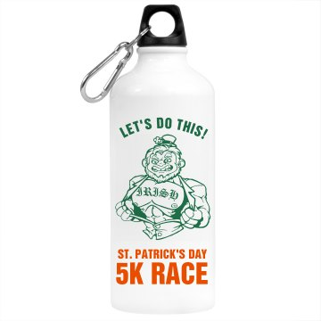 St. Patrick's Race Bottle Aluminum Water Bottle