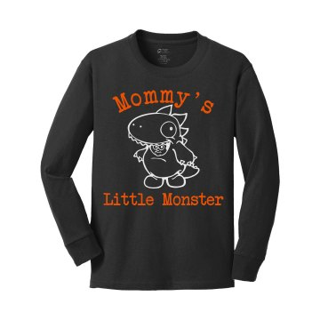 Little Monster Youth Gildan Heavy Cotton Long Sleeve Tee