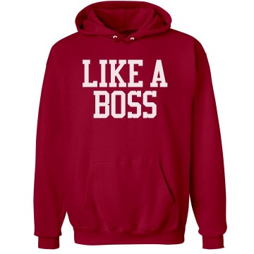 Seniors Like a Boss Unisex Gildan Heavy Blend Hoodie