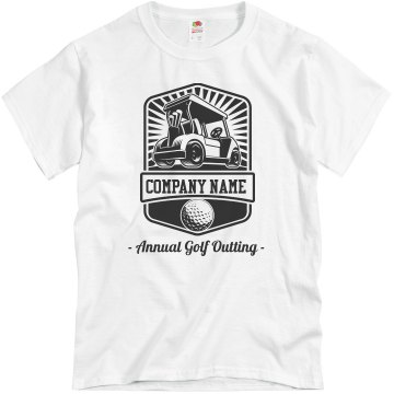 Golf Outing Unisex Basic Gildan Heavy Cotton Crew Neck Tee